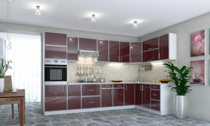 Кухня Фрейм Бордо
